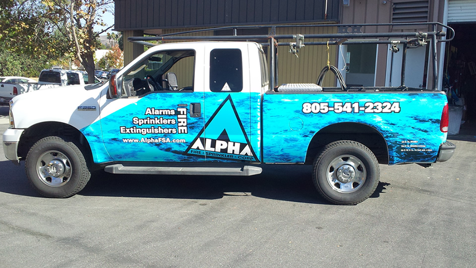 Truck Vehicle Wrap for Alpha Fire