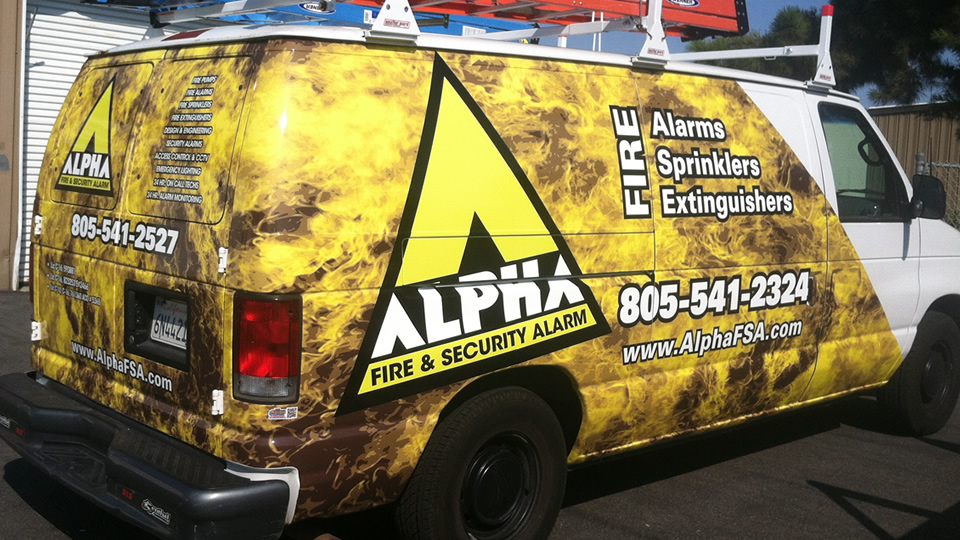 Van Vehicle Wrap for Alpha Fire