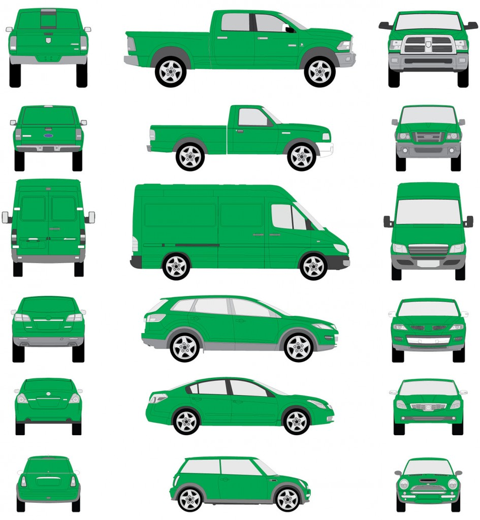 Full Vehicle Wrap Diagram