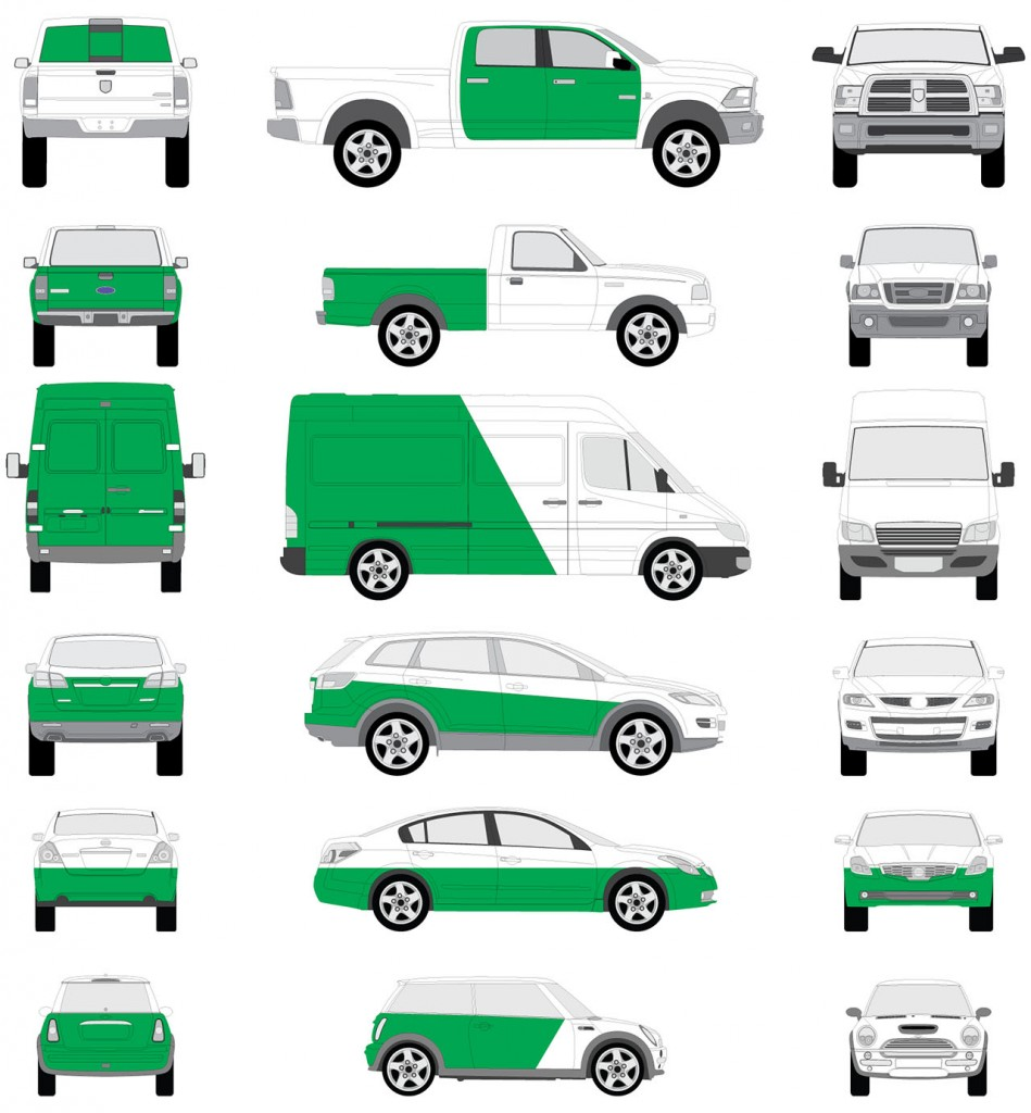 Partial Vehicle Wrap Diagram