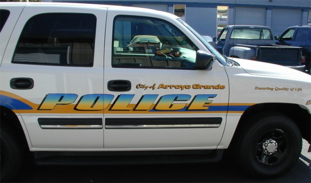 Truck Lettering for Arroyo Grande Police