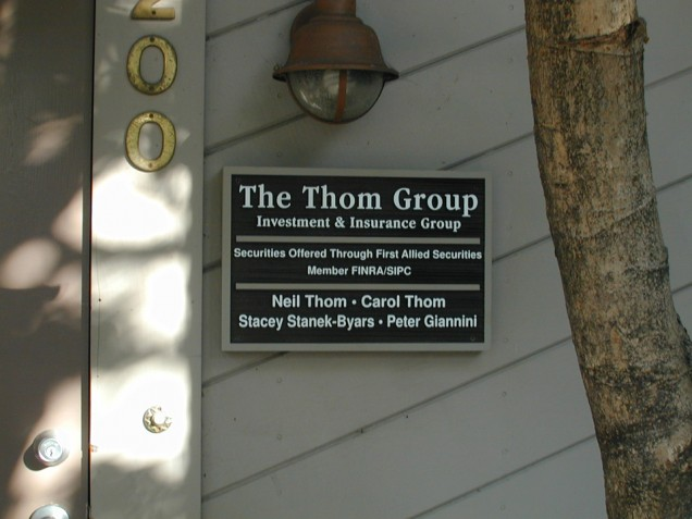 Dimensional Sandblasted Directory Signs