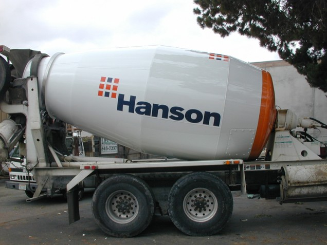 Large Fleet Vehicle Lettering for Hanson