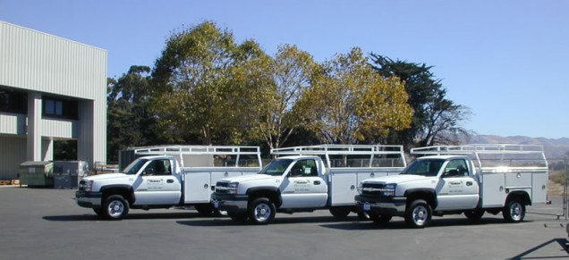Fleet Truck Lettering for San Luis Mechanical