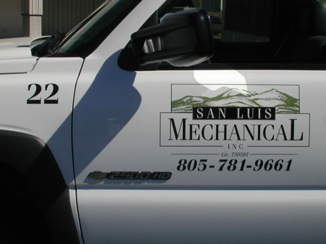 Fleet Truck Lettering for San Luis Mechanical