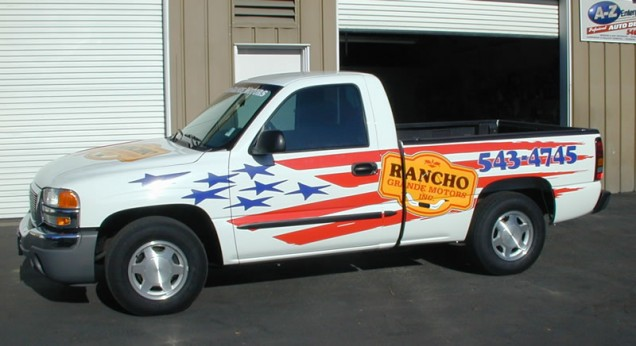 Truck Lettering for Rancho Grande Motors