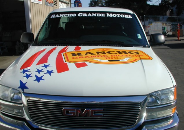 Truck Lettering for Rancho Grande Motors