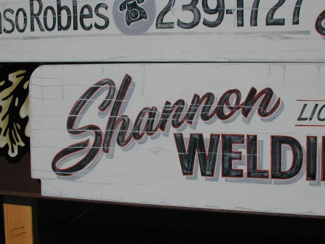 Vintage Vehicle Lettering for Shannon Welding