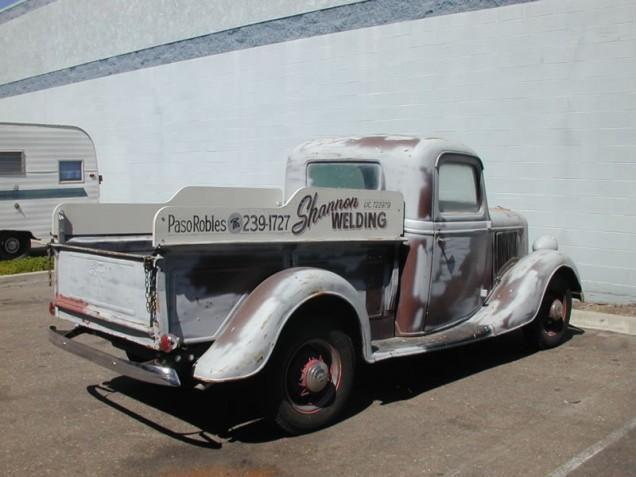Vintage Vehicle Lettering for Shannon Welding