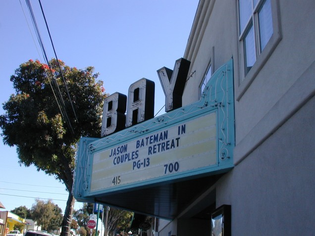 Lighted Sign for Bay Theater in Morro Bay
