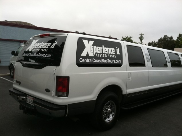 Vehicle Lettering for Xsperience it Custom Tours