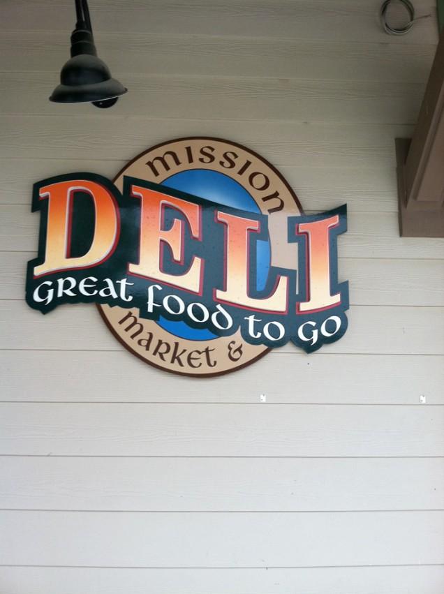 Building Sign for Mission Market Deli