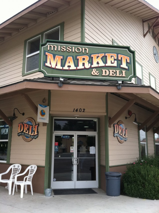 Building Sign for Mission Market Deli