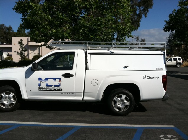 Truck Lettering for Michael's Communication Service