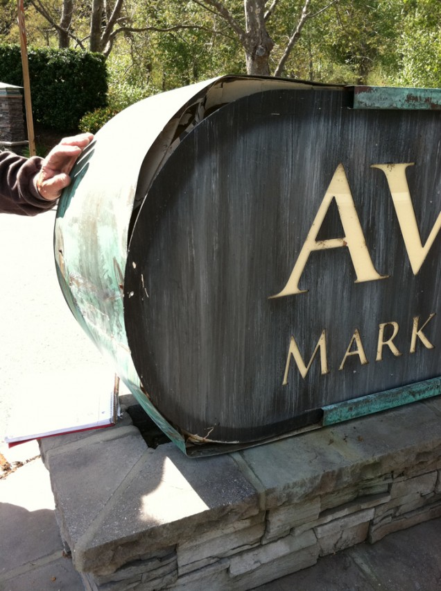 Sign Repair for Avila Village
