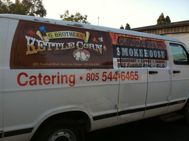 Van Lettering for G Brothers