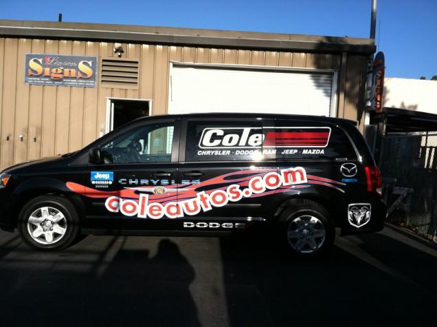 Van Lettering for Cole Chrysler