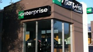 Lighted Building Signage for Enterprise Rent A Car