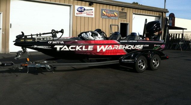 Boat Wrap for Tackle Warehouse