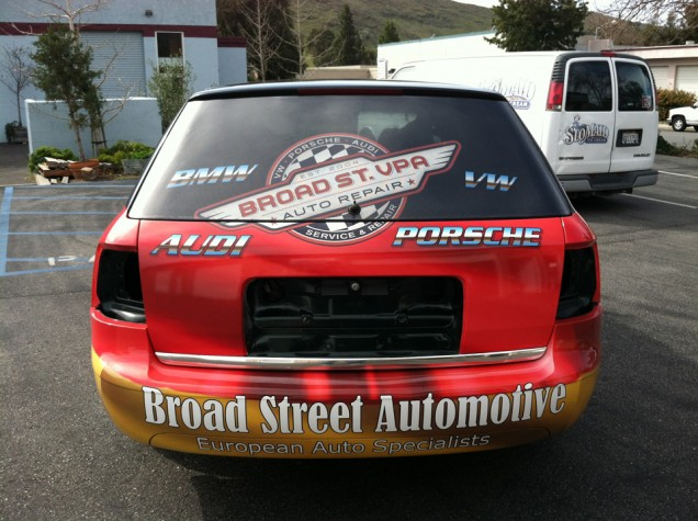 Audi Full Car Wrap for Broad Street Auto