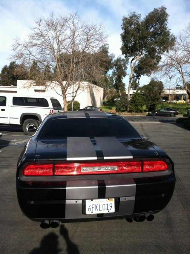 Dodge Challenger SRT Racing Stripes
