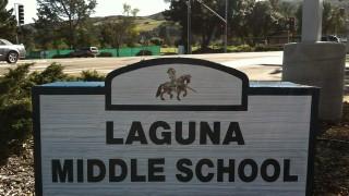 Sandblasted Dimensional Sign for Laguna Middle School