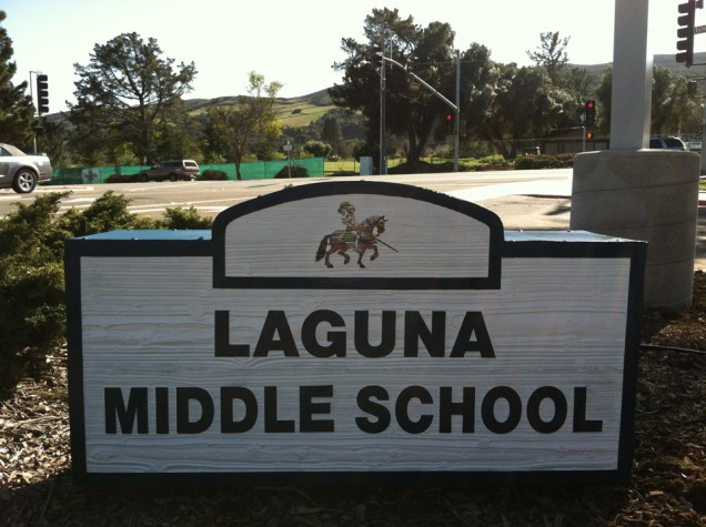Sandblasted Dimensional Sign for Laguna Middle School