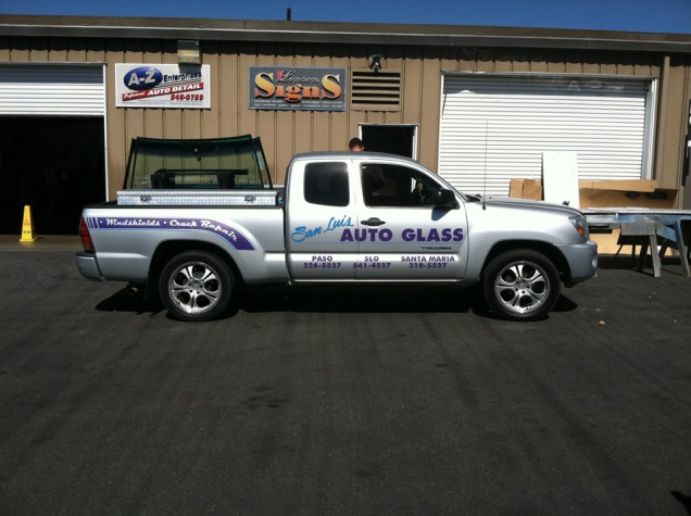 Vehicle Lettering for SLO Auto Glass