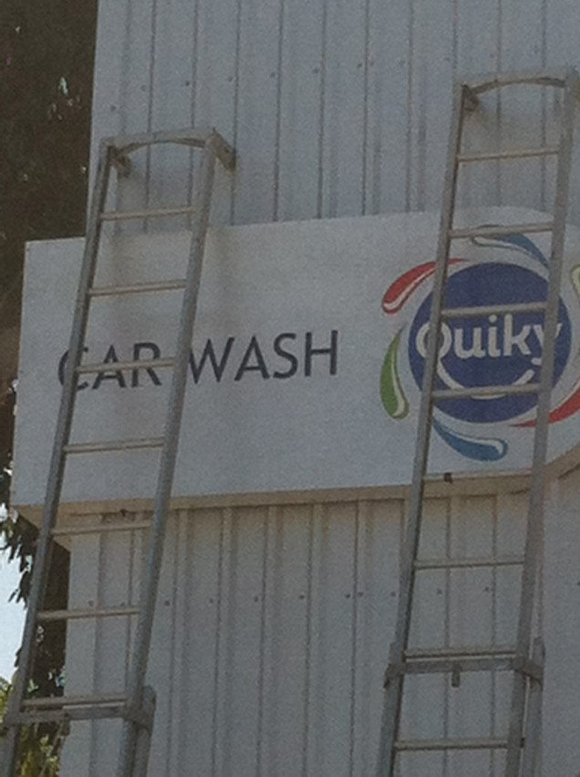 On Premise Building Sign for Quiky Carwash