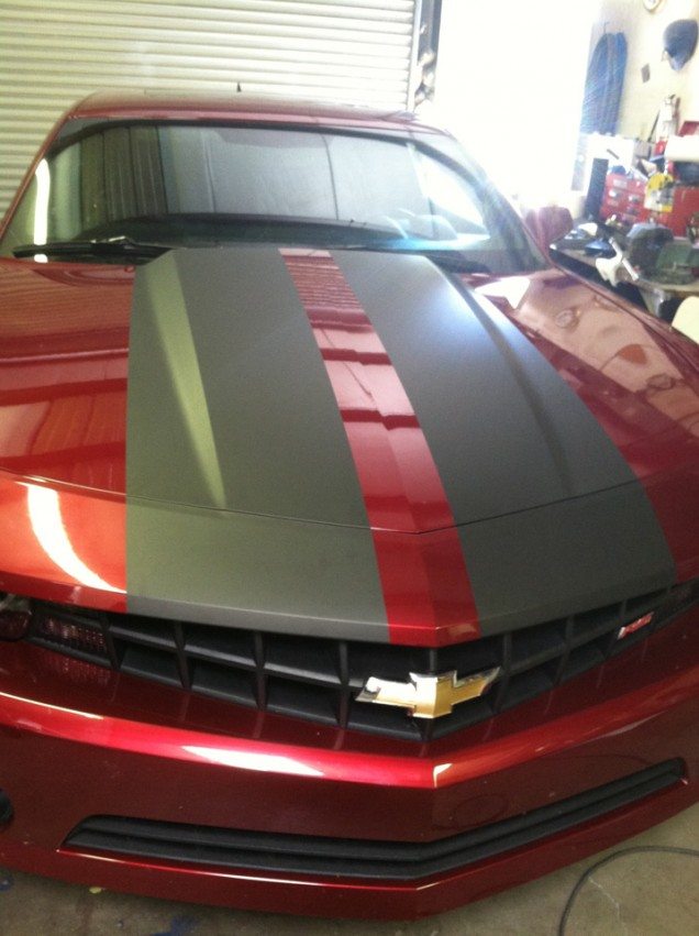 Car Stripes on a Chevy Camaro