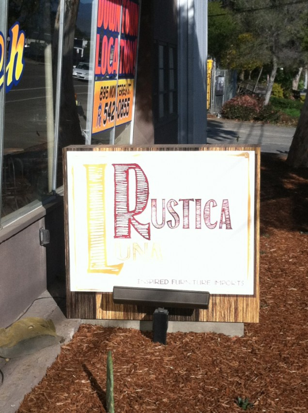 Hand Painted Building Signs for Luna Rustica