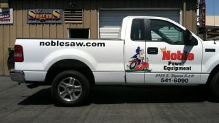 Truck Lettering for Noble Power Equipment