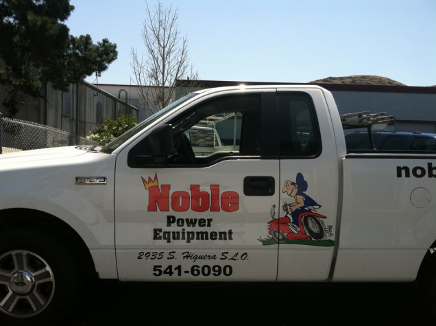 Truck Lettering for Noble Power Equipment