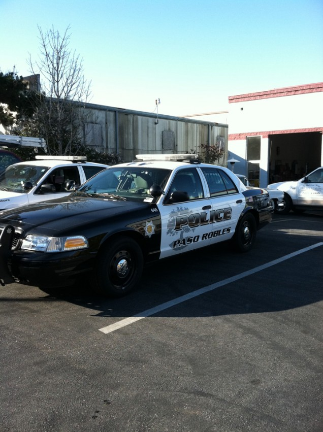 Police Vehicle Lettering for Paso Robles