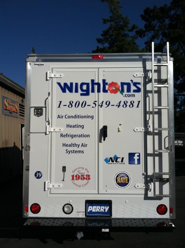 Fleet Vehicle Lettering for Wighton's