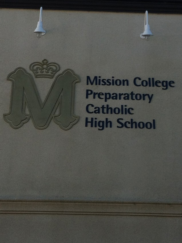 On Premise Building Sign for Mission College Prep School