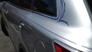Hand Painted Pinstriping on a Mazda CX-9