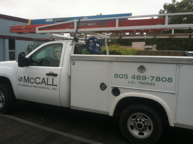 Fleet Vehicle Lettering for McCall Plumbing