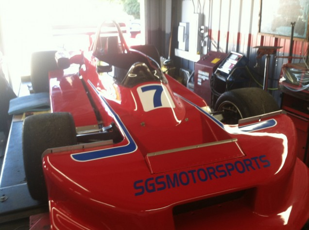 Race Car Stripes and Lettering for SGS Motorsports