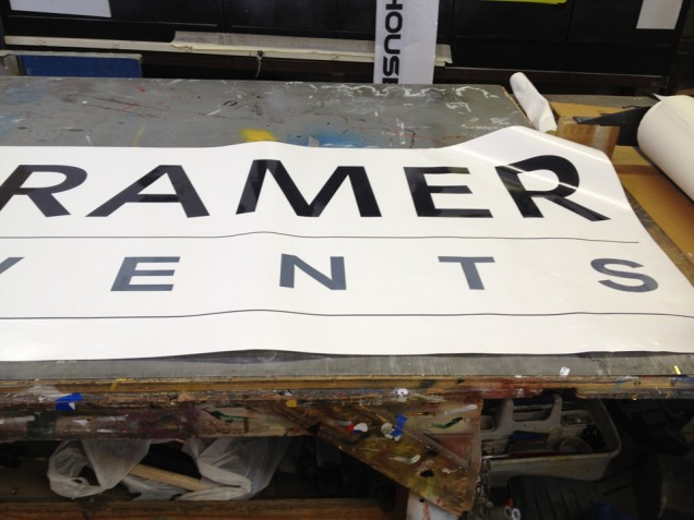 On Premise Building Sign for Kramer Events