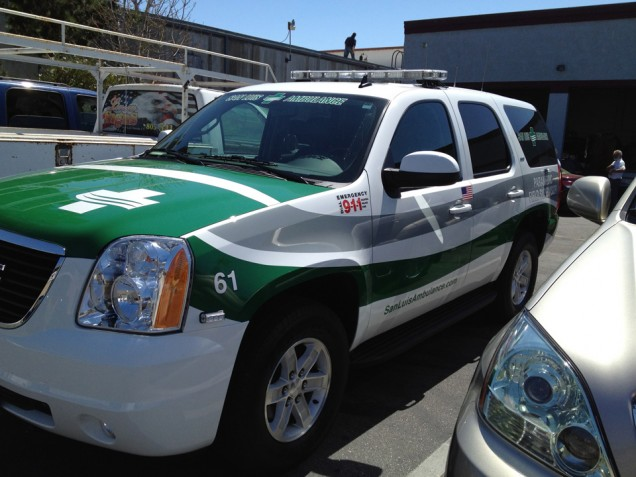 Vehicle Lettering for SLO Ambulance