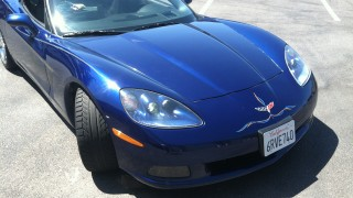 Car Pinstriping on a Corvette
