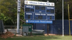 Vinyl Lettered Sign for Mission College High School