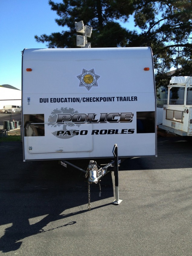 Trailer Lettering for Paso Robles Police Department
