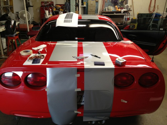 Racing Stripes for a 2003 50th Anniversary Corvette