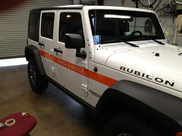 Vehicle Lettering for K9 Search and Rescue