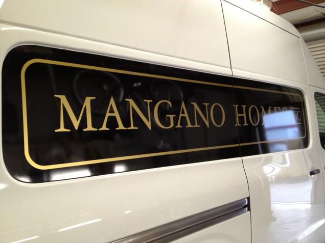 Van Lettering for Mangano Homes