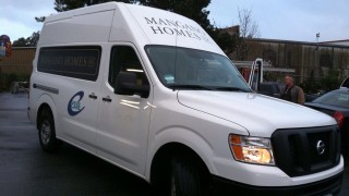 Van Lettering for Mangano Homes