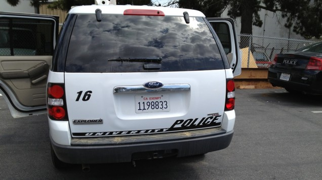 Fleet Vehicle Lettering for Cal Poly PD