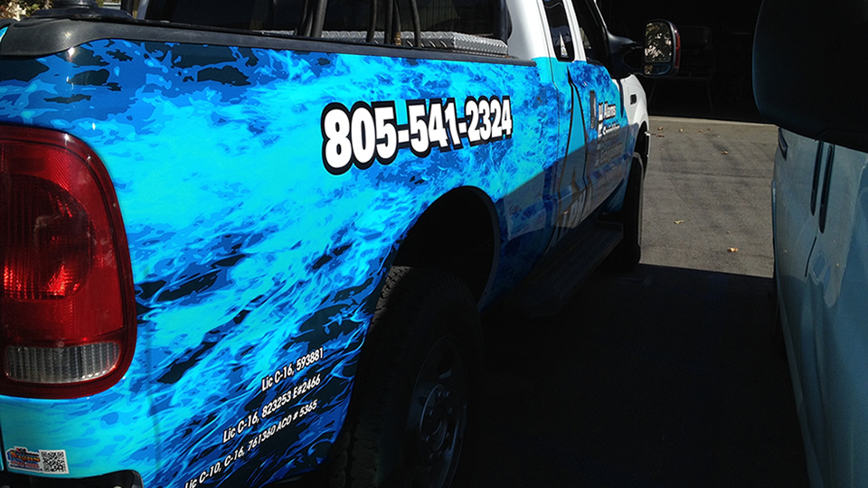 Partial Truck Vehicle Wrap for Alpha Fire